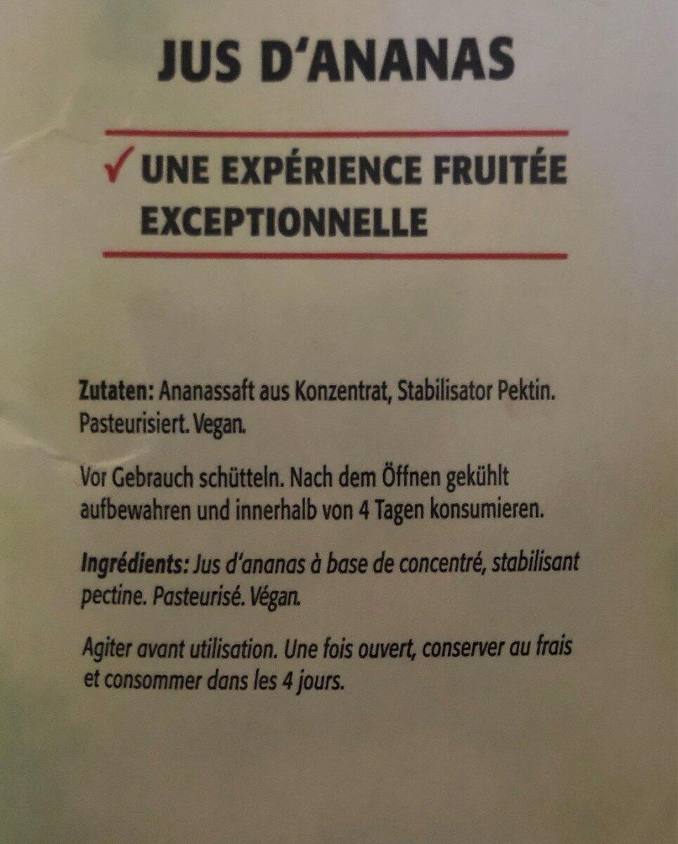 Jus d'ananas premium - Ingrédients - fr
