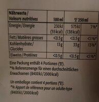 Jus d'ananas premium - Informations nutritionnelles - de