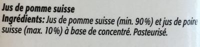 100% jus de pomme Suisse - Ingredienti - fr