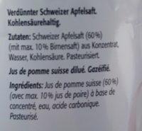Ramseier Apfelschorle 1.5L Pet - Ingrediënten