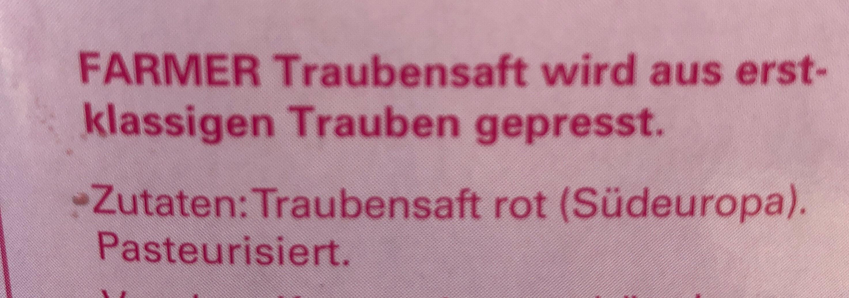 Jus de raisin / Traubensaft - Ingredienti - de
