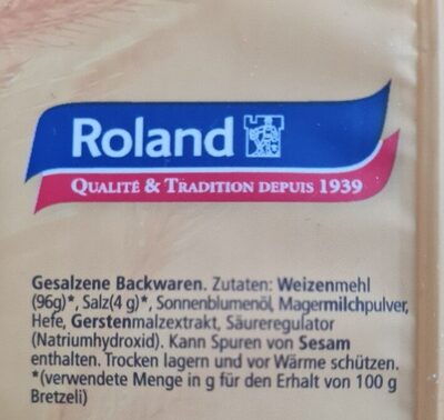 ROLAND BRETZELIS CLASSIC - المكونات - de