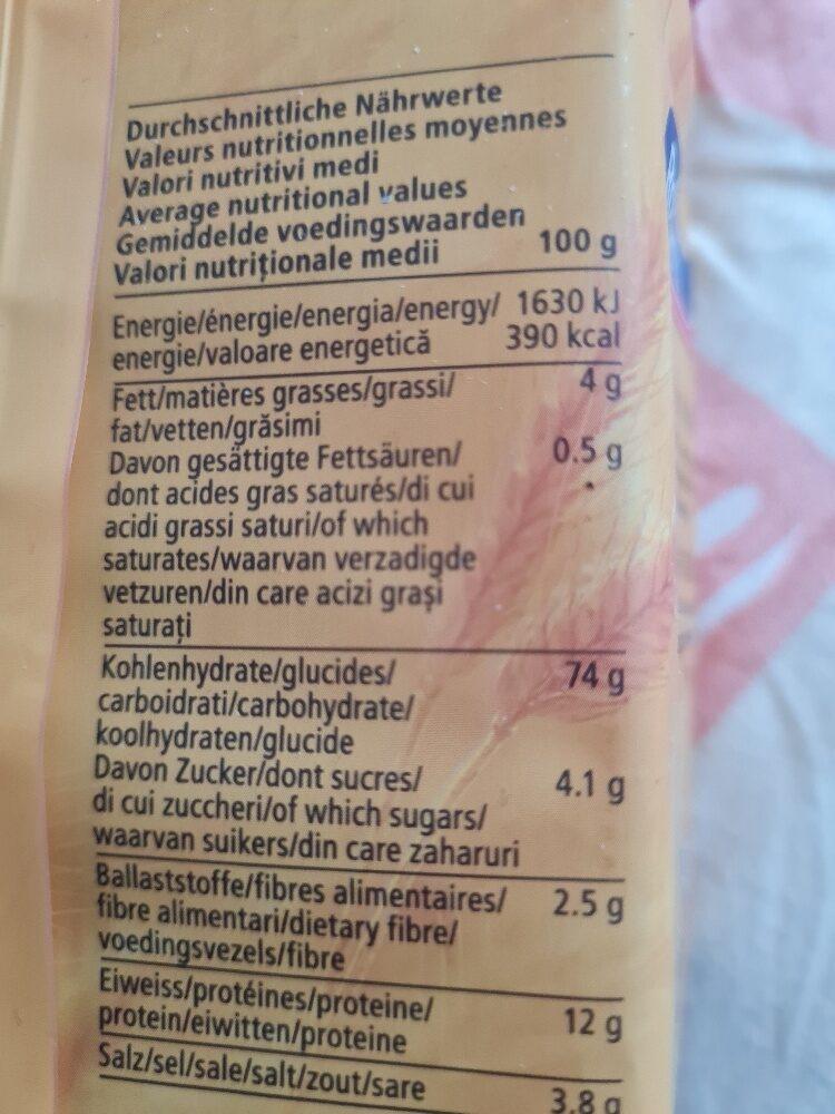 ROLAND BRETZELIS CLASSIC - حقائق غذائية - de