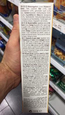 Les Ficelles au fromage et aux légumes - Ingrediënten - fr