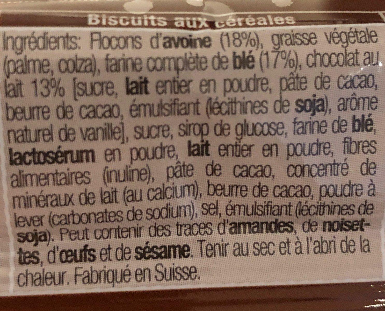 Roland petite pause chocolat céréales - Ingredients