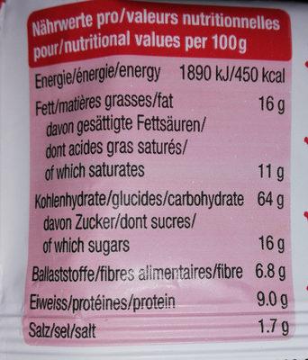 Cracker à la pomme & aux graines de chia - Informations nutritionnelles - fr