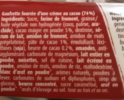 WERNLI JURA WAFFELN ORIGINAL, Schokolade - Inhaltsstoffe