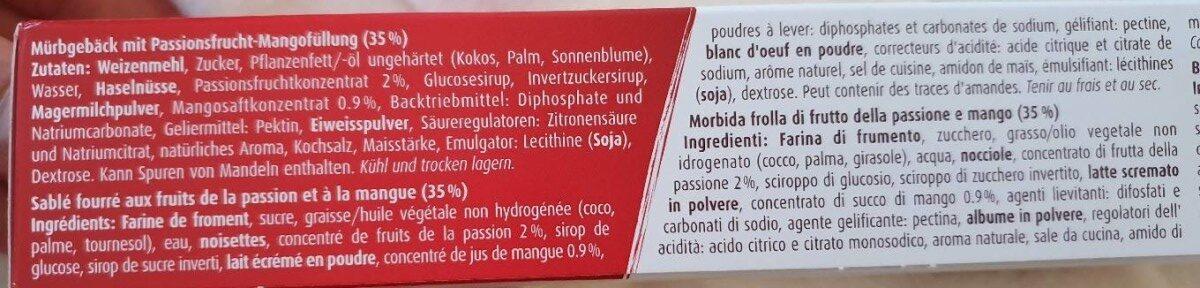 Wiener Waffel Exotic - Ingredienti - fr