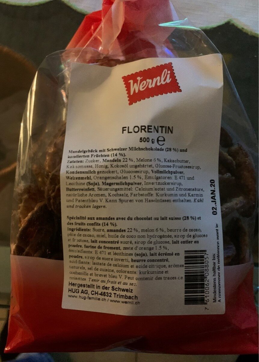 Biscuits Florentin - Produit