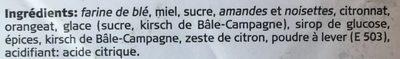 Pains d'épice Laeckerli Huus de Bâle - Ingrédients - fr