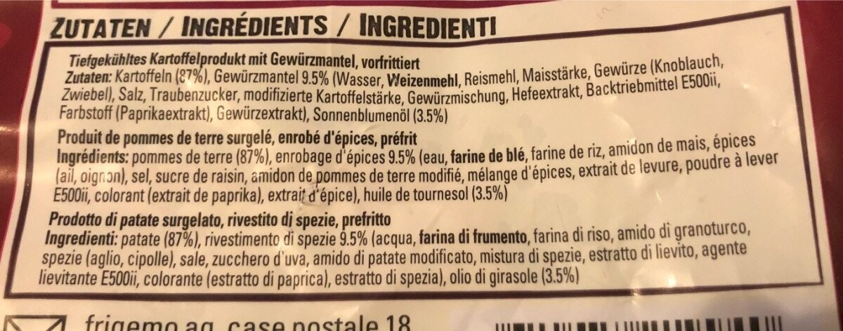 Country potatoes - Ingredients