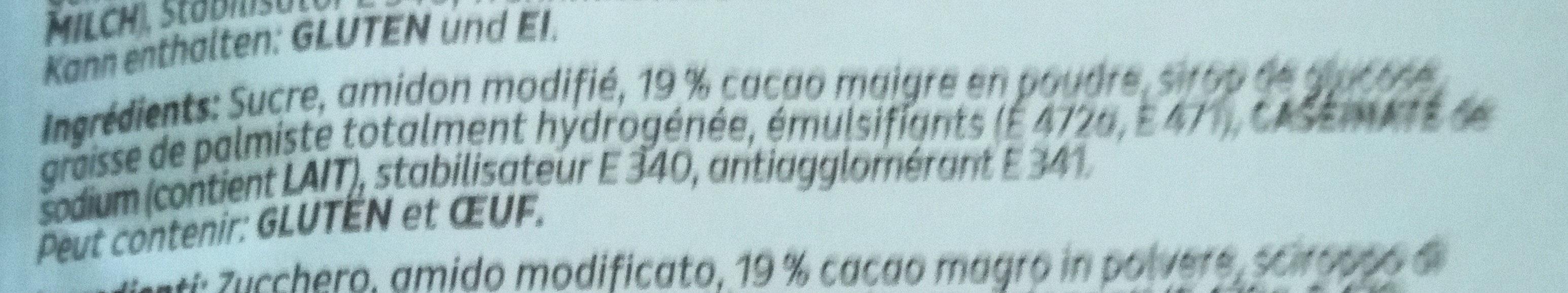 Crème Fix chocolat - Ingredients - fr