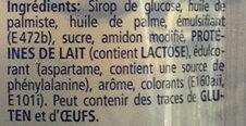 Crème Décor - Ingredienti - fr