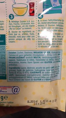 My Ice Cream : Vanilla Flavour - Ingrediënten - fr