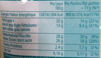 My Ice Cream Vanilla Flavour - Informations nutritionnelles - fr