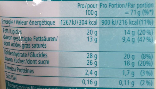 My Ice Cream : Vanilla Flavour - Voedingswaarden - fr