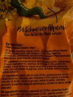 Chips paprika - Ingredients - de