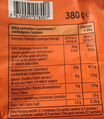 Se Zweifel XXL Chips Pap. - Informations nutritionnelles - fr