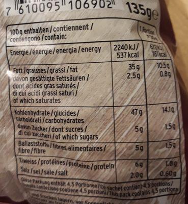 Merranea Chips Balsamico & Cipolla rossa - Informations nutritionnelles