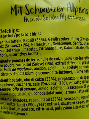 Moutarde Original Chips - Ingredients