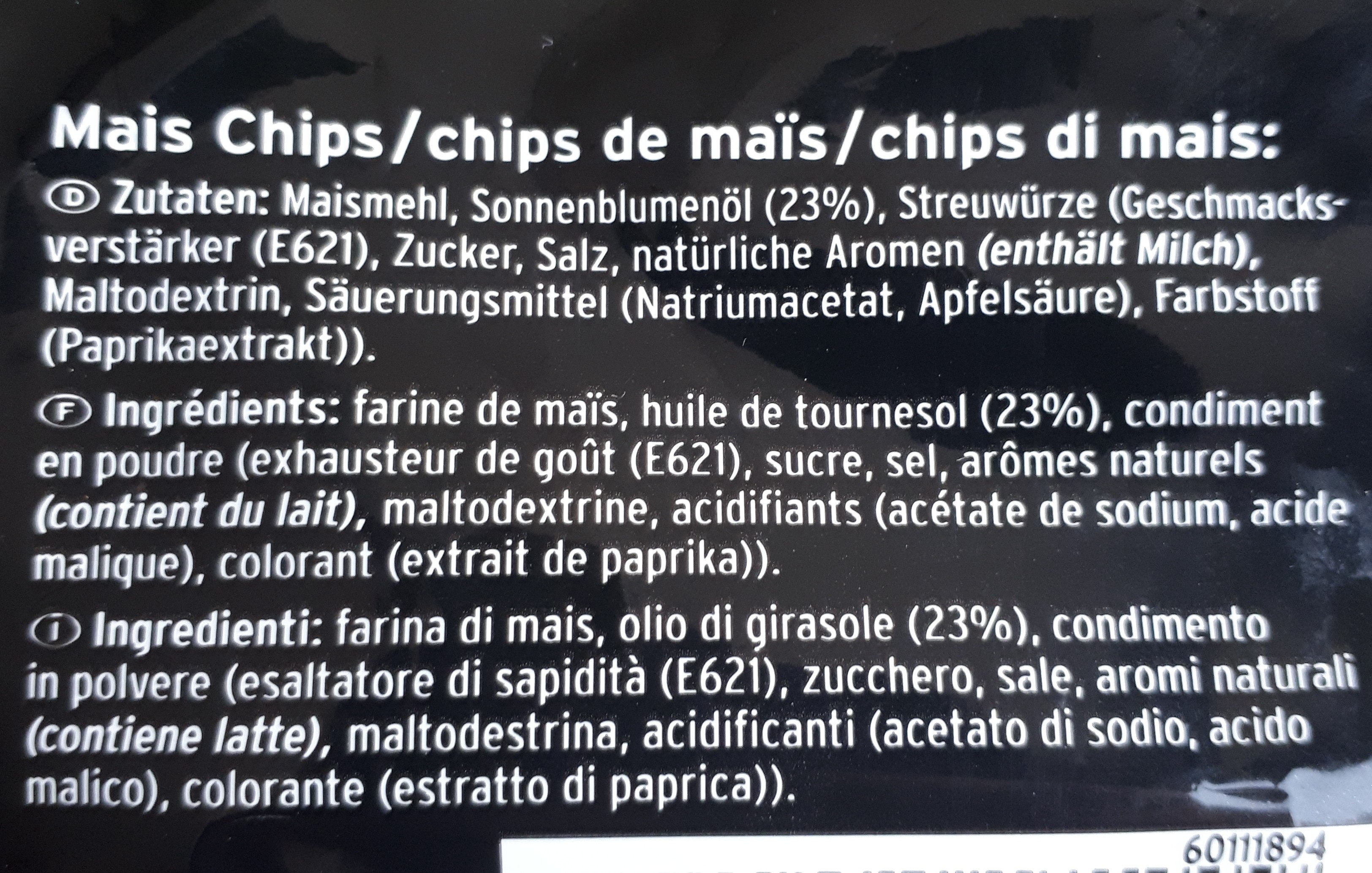 Corn Chips Original - Zutaten