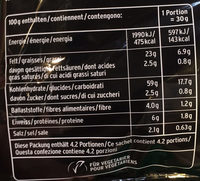 Corn Chips Original - Nährwertangaben