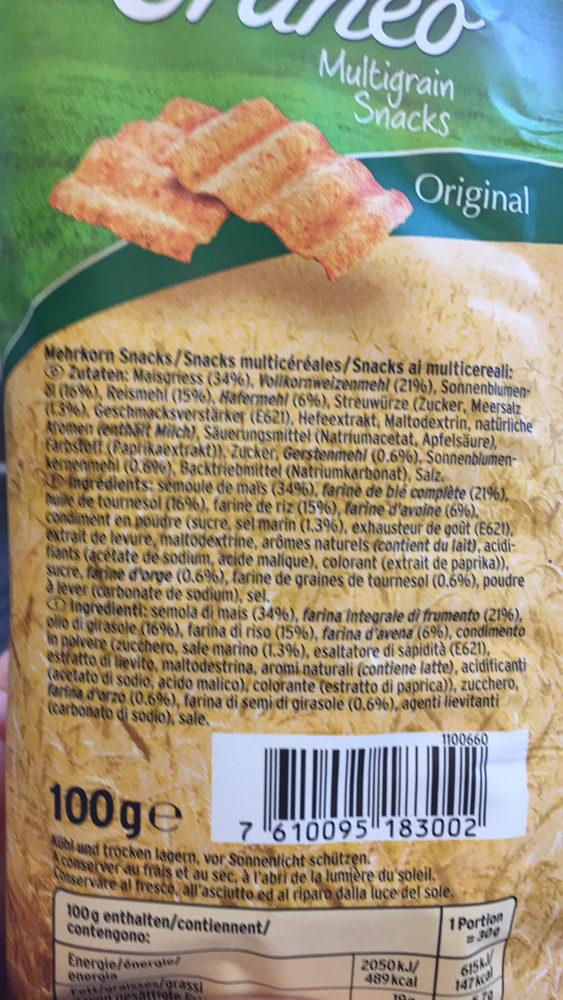 Multigrain Snacks Original - Ingrédients