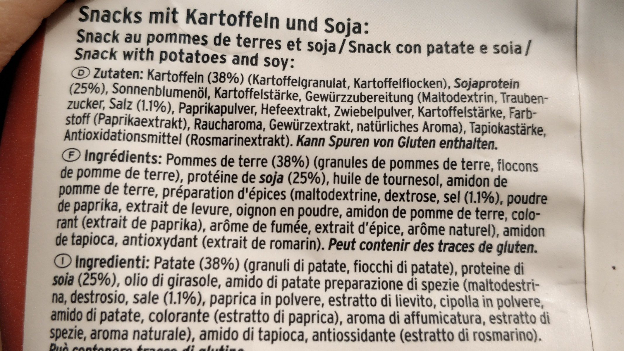 Vaya Paprika - Ingrédients