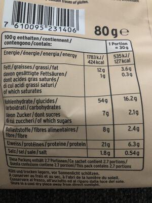 Vaya Paprika - Informations nutritionnelles