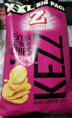 Kezz Extra Crunchy Chips Curry Hand Cooked Style (XXL Big Pack) - Product