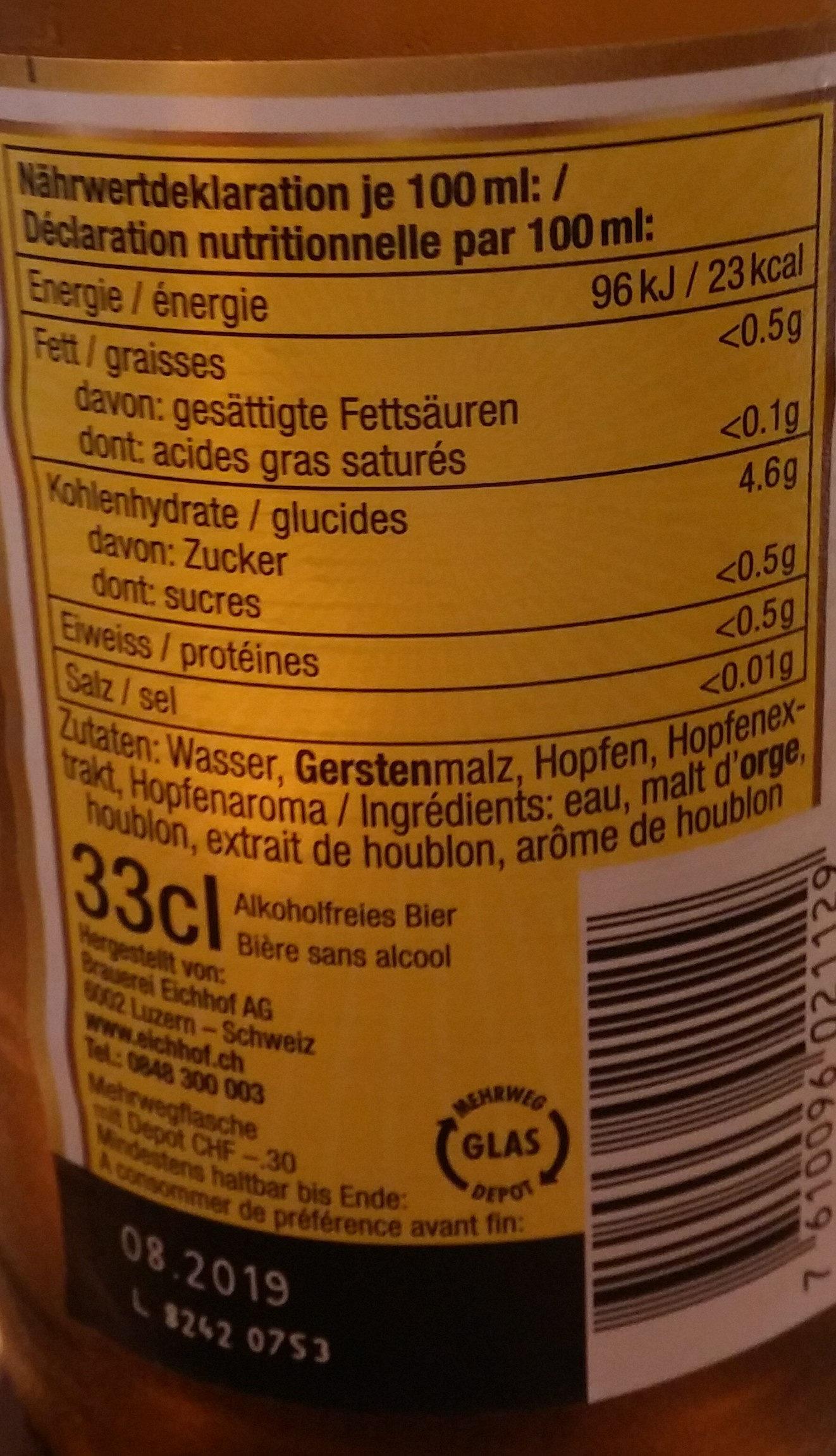 Bière sans alcool - Ingredients - de