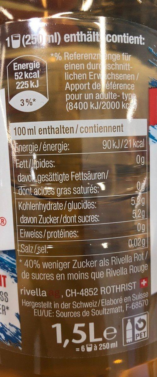 Rivella Refresh - Nutrition facts - fr