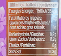 Rivella fleur de sureau - Nutrition facts - fr