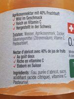 Michel, Abricot Nectar - Zutaten - en