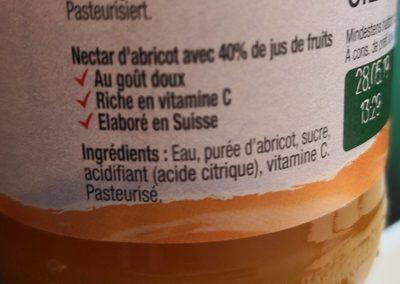 Michel, Abricot Nectar - Ingrédients - fr