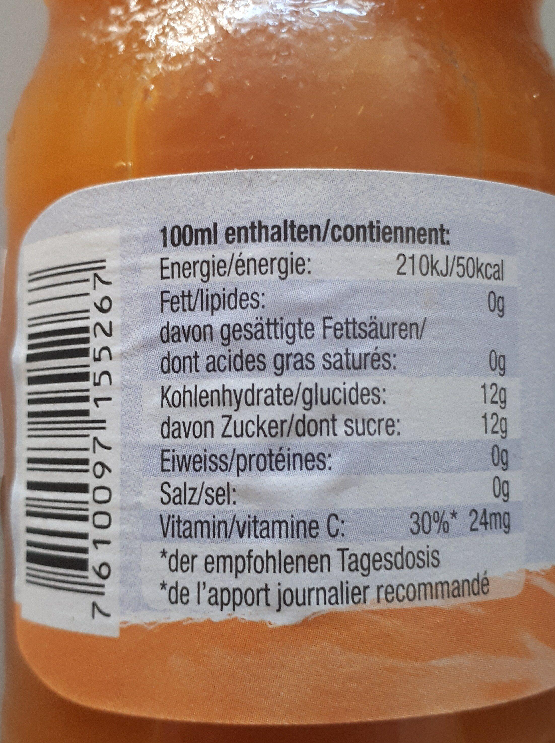 Michel, Abricot Nectar - Informations nutritionnelles - en