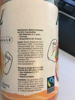 Fairtrade Michel Body Guard De Jus de Fruits - Ingredients
