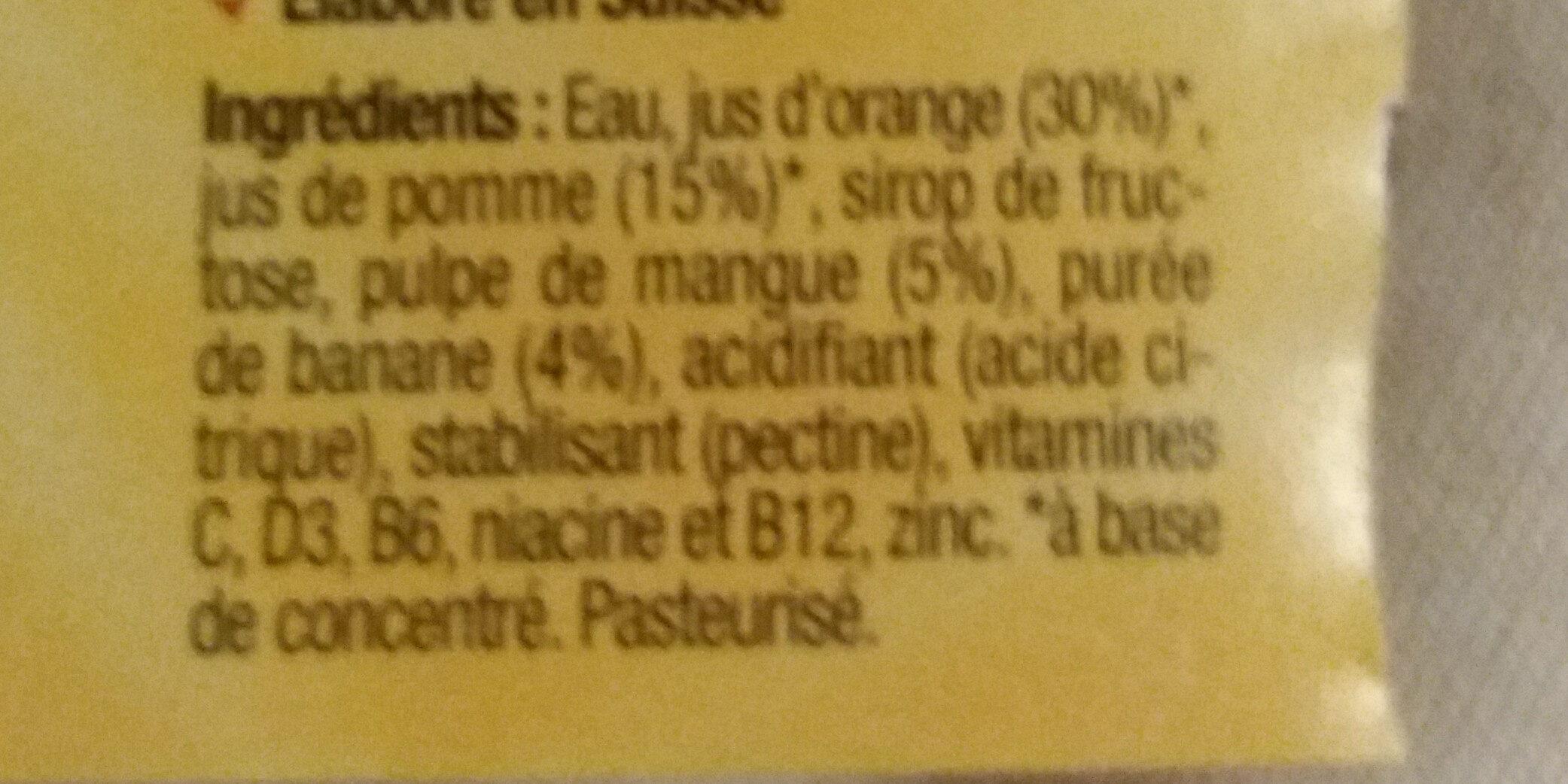 Sunshine - Ingrediënten - fr