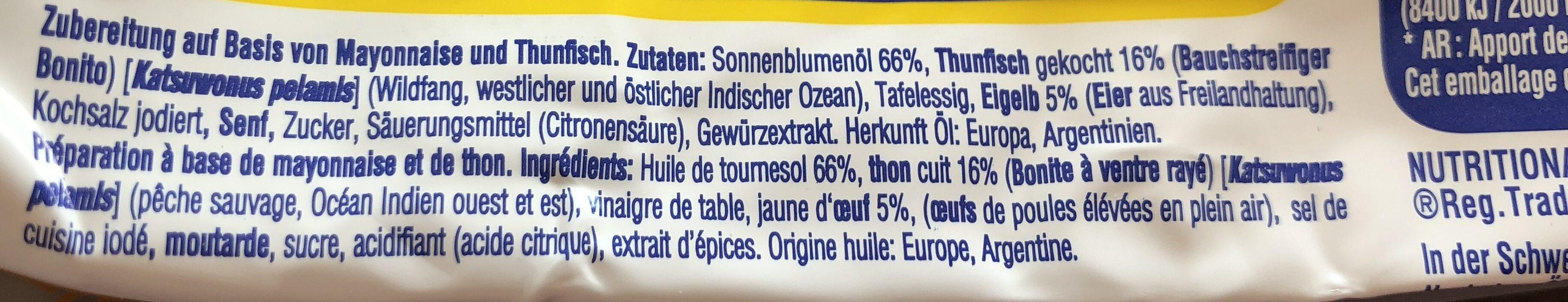 Thon mayo - Ingredients - en