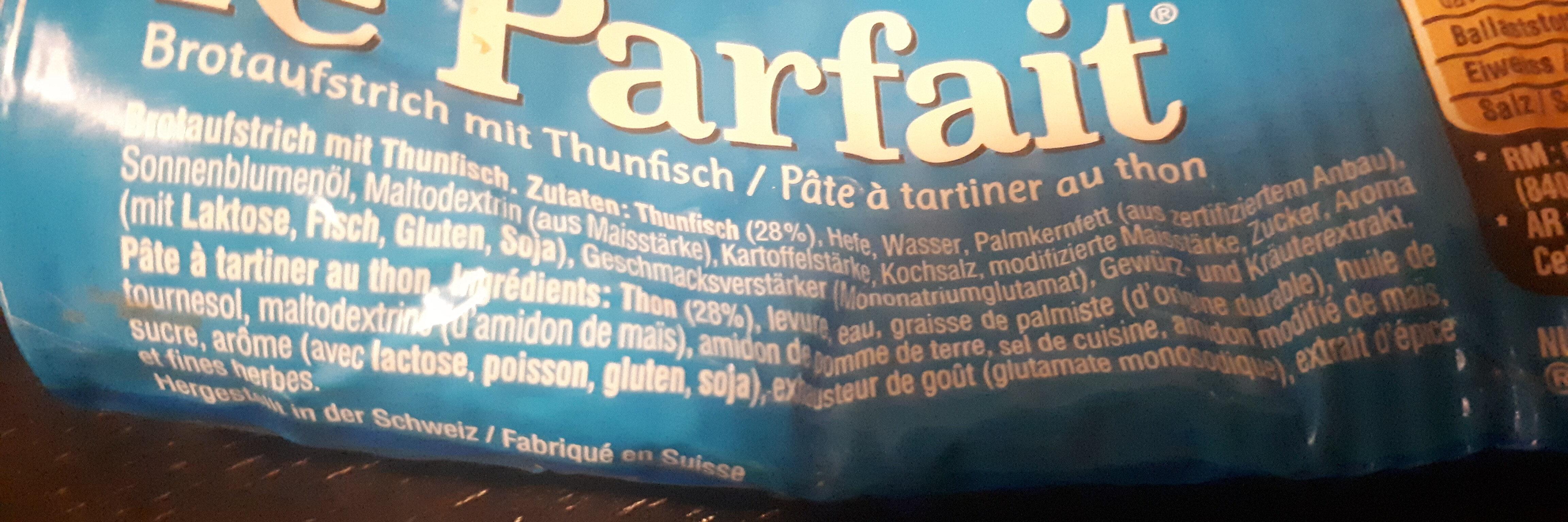 Le Parfait thon - Ingrédients - fr