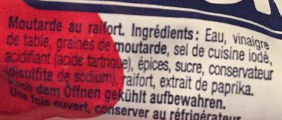 Thomy Moutarde Raifort - Ingredienti - fr