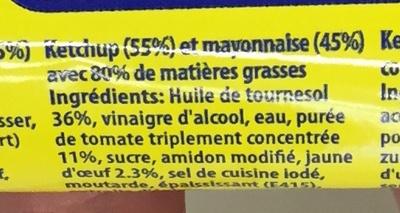 Mayonnaise Ketchup Ketch & Co - Inhaltsstoffe