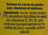 Nesquick - Ingrediënten