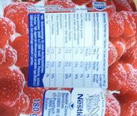 Hirz Framboise Vanille - Informations nutritionnelles