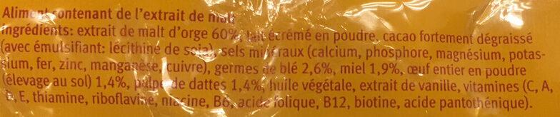 Vitalzin - Ingredients - fr