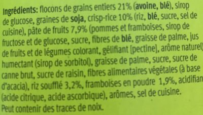Farmer Soft, Himbeer - Ingredienti - fr