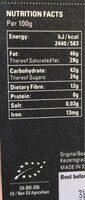 Piura 75% - Voedingswaarden - nl