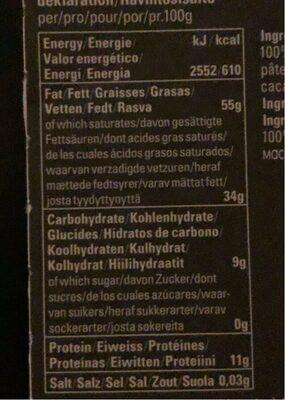 Cusco chungo 100% - Valori nutrizionali - fr