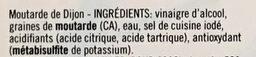Moutarde forte de Dijon - Ingredients - fr