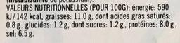 Moutarde forte de Dijon - Nutrition facts - fr